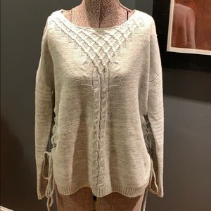 Freshman 1996 marked gray laced side sweater, Sm